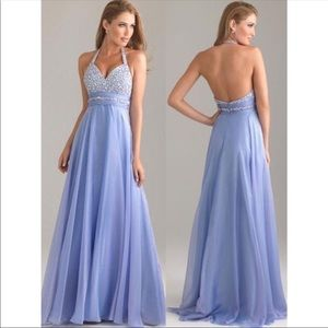 Stunning Periwinkle Prom Gown